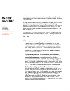 Gartner Resume - 2015
